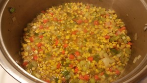 soup before simmer