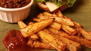cajun fries plated