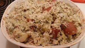 creamy sauerkraut potato - after baking