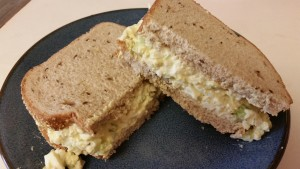egg salad sandwich done