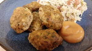 german meatballs - plated