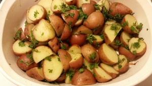 parsley potatoes baked