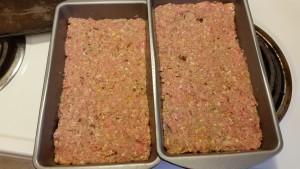 turkey pecan pretzel meatloaf before baking