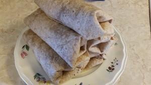 6 bbq chicken wraps