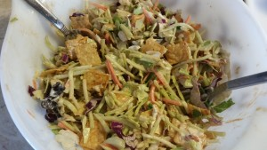 BBQ salad for wrap