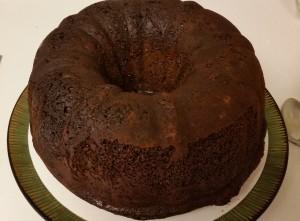 chocolate eggnog cake - ready to ice