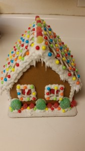 gingerbread house - completed back