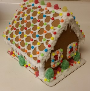 gingerbread house - completed back and side