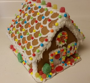 gingerbread house - completed front
