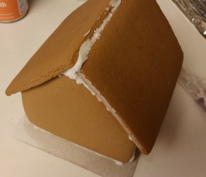 gingerbread house - constructed