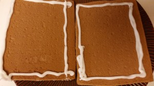 gingerbread house - roof pieces