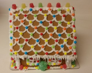 gingerbread house - roof
