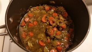 pot roast with apples and leeks - gravy begin