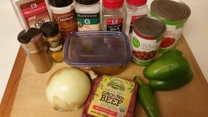 pumpkin chili- ingredients