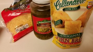 Jalapeno cheddar cornbread - ingredients