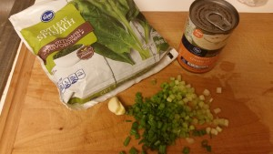 creamed spinach - ingredients