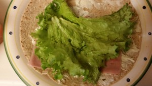 ham and cheese wrap - lettuce