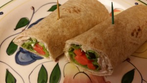 ham and cheese wrap - plated