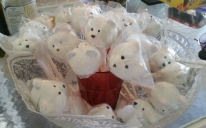 polar bear cake pops - finished in bowl