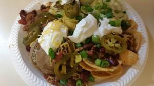 potluck chili - plated