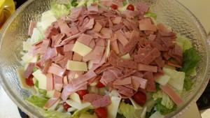 Antipasto salad - in bowl