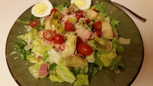 Antipasto salad - plated