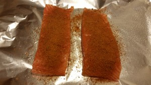 Cajun Salmon Caesar Salad - prebaked