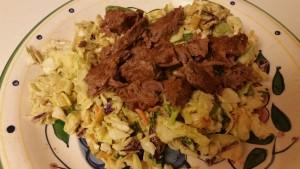 Carne Asada Salad - plated