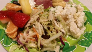 Irish coleslaw - plated