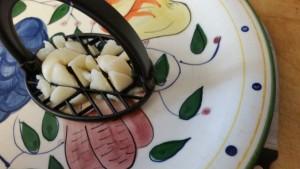 Irish potato salad - mashing 3