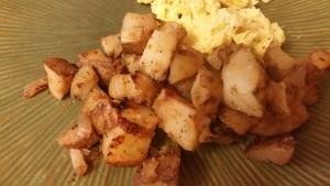 breakfast potatoes - plated