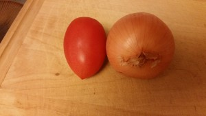 chicken tikka masala - onion and tomato