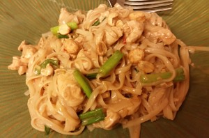 pad thai - plated