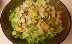 simple almond caesar salad